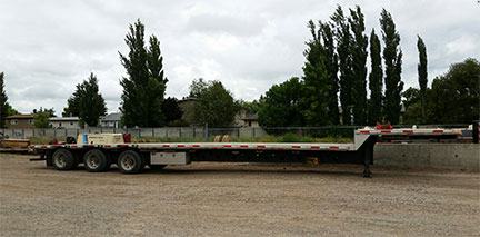 53 ft aluminum step deck trailer